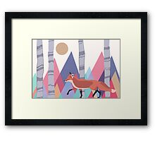 Fox stroll Framed Print