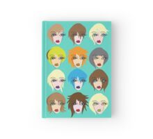 Twelve ladies of fashion Hardcover Journal