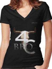 4cbbq.com Women's Fitted V-Neck T-Shirt