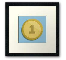 Video Game Coin Framed Print