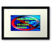 LOAN SHARK Framed Print