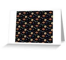 Cute Planets pattern Greeting Card