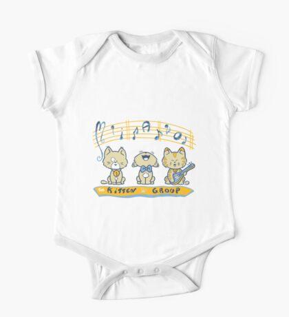 Cute singing kittens One Piece - Short Sleeve