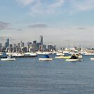Melbourne viewed from Williamstown by Rick Edwards