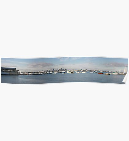 Melbourne viewed from Williamstown Poster