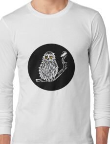 Drowsy owl and mouse Long Sleeve T-Shirt