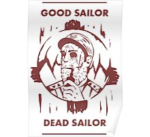Dead pirate, sailor captain (red) Poster