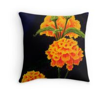 Dawn's flowers Throw Pillow