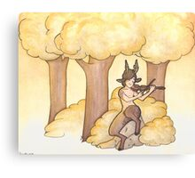 Tunes of the forest Canvas Print