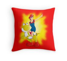 Go, yoshi! go!! Throw Pillow