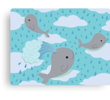 The Flying Whales Canvas Print
