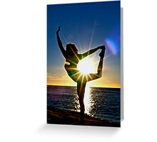 Dancing for the Sun Rise Greeting Card