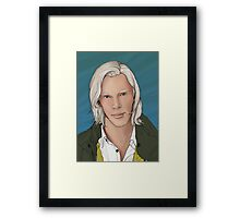 Julian Assange Framed Print