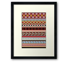 Floral Knitting Pattern Framed Print