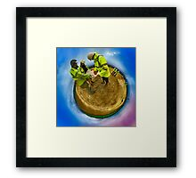 Planet Procrastination: Archaeology in Inaction Framed Print