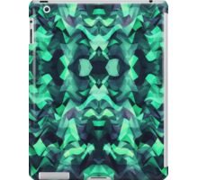 Abstract Surreal Chaos theory in Modern poison turquoise green iPad Case/Skin
