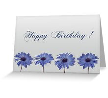 Happy Birthday with flowers  Greeting Card