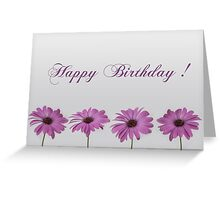 Happy Birthday card with flowers Greeting Card