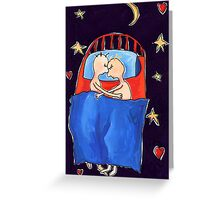 Asleep Greeting Card