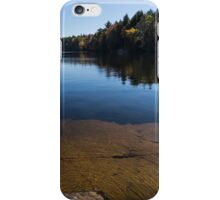 Golden Ripples Bedrock - Fall Mood Reflection   iPhone Case/Skin