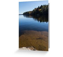 Golden Ripples Bedrock - Fall Mood Reflection   Greeting Card