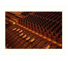 detail of sound mixer Art Print