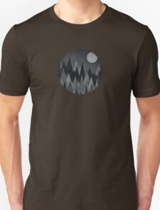 Dark Mystery Abstract Geometric Triangle Peak Wood's (black & white) Unisex T-Shirt