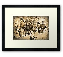 Bringing Up the Cannon Framed Print