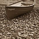 Beached boat - Beer Devon by Rob Lodge