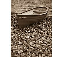 Beached boat - Beer Devon Photographic Print