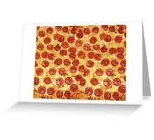 Delicious Pepperoni / Salami Pizza - Pattern with extra cheese Greeting Card