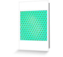 Cool and Trendy Pizza Pattern in Super Acid green / turquoise / blue Greeting Card