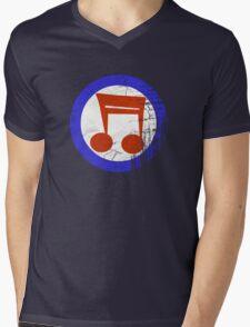 Music Mod Distressed Mens V-Neck T-Shirt