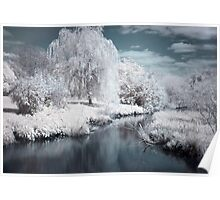 Infrared Lagoon Poster