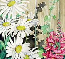 Daisies and Snapdragons by clotheslineart
