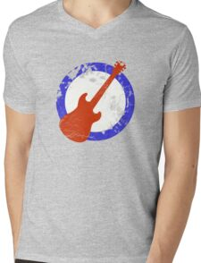 Guitar Mod Distressed Mens V-Neck T-Shirt