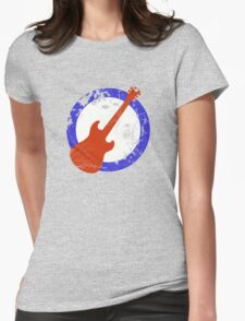 Guitar Mod Distressed Womens Fitted T-Shirt