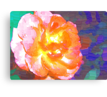 Abstract of full pink and peach rose Canvas Print