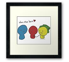 What a lovely bum! Framed Print