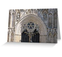 York Minster - West Front Greeting Card