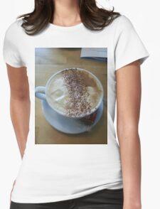 Coffee Break Womens Fitted T-Shirt