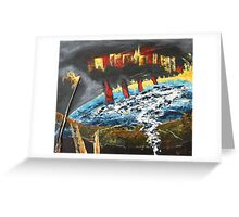 world ablaze Greeting Card