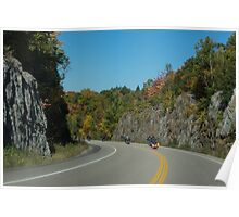 Road Trip - Bikers Know the Best Roads Poster