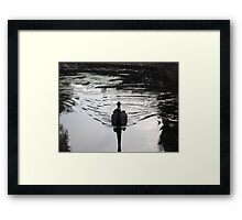 Full steam ahead for this black swan Framed Print