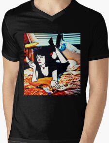 Pulp Fiction Mia Wallace Mens V-Neck T-Shirt