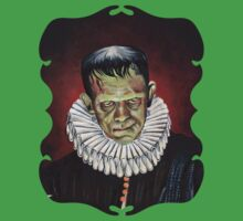 Renaissance Victorian Portrait - Frankenstein One Piece - Short Sleeve