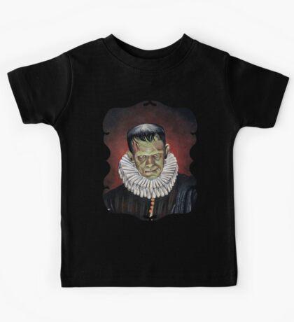 Renaissance Victorian Portrait - Frankenstein Kids Tee