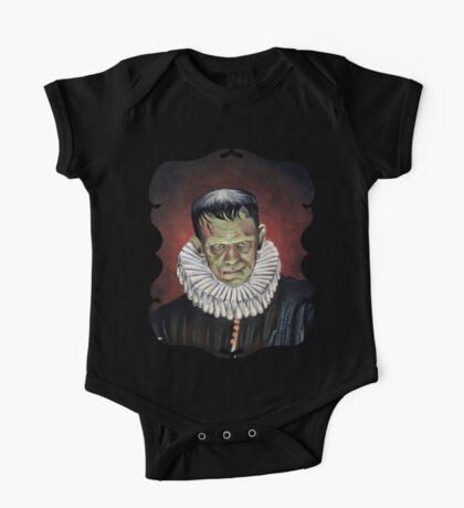 Renaissance Victorian Portrait - Frankenstein One Piece - Short Sleeve