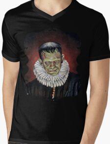 Renaissance Victorian Portrait - Frankenstein Mens V-Neck T-Shirt