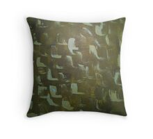 Green Angles Throw Pillow